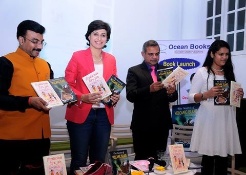 Two Books authored by one of the youngest author of India Ms. Devanshi Gupta were launched at hands of Former Indian Women Captain Ms. Anjum Chopra. T